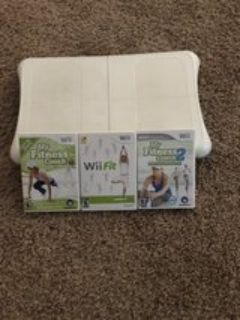 Nintendo Wii Balance Board and 3 Games