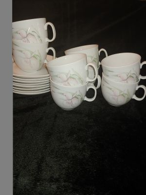 8 Lovely Cups and Saucers