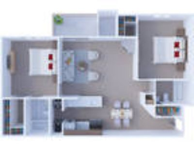Windsor Estate Apartments - Two BR Floor Plan B3