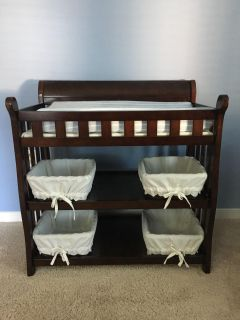 Changing Table & Pottery Barn Kids Baskets/Liners