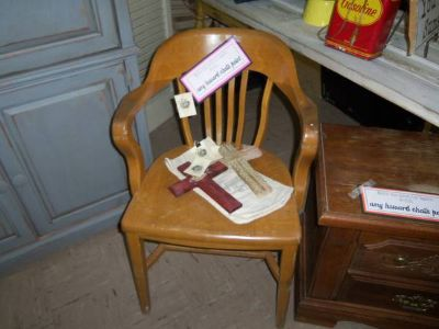 Old Solid Wood Office Chair