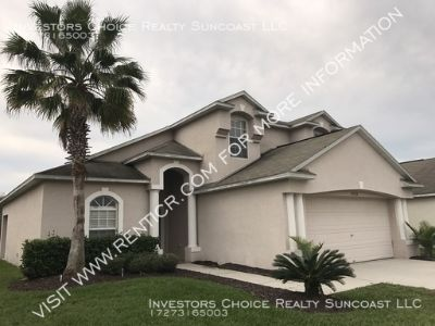 3 BR/ 2 BA $1,595 single family home 25522 Bruford Blvd, Land O Lakes, FL 34639
