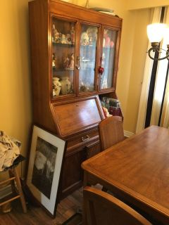 Dining set , table, chairs and China cabinet