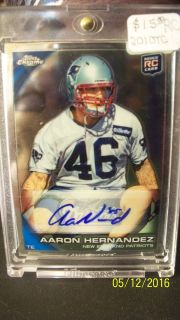 2010 Topps Chrome Aaron Hernandez Autographed Rookie Card