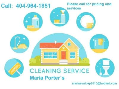 Call for your free estimate  phone 404-964-1851 Maria    House Cleaning   HOUSE CLEANING