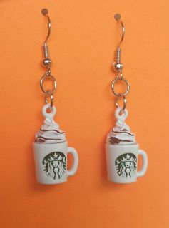 New Handmade Coffee Earrings