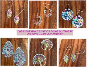 """Want Some Color?"" Laser Lace Enameled Earrings"
