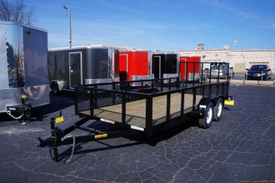 "6.4 X 16 UTILITY TRAILER...24"" HIGH MESH SIDES 2018"
