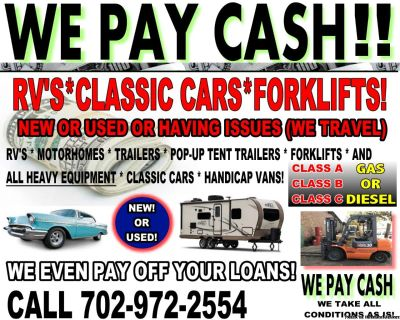 WE PAY CASH FOR YOUR CLASSIC'S ****AMERICAN OR EUROPEAN!!!