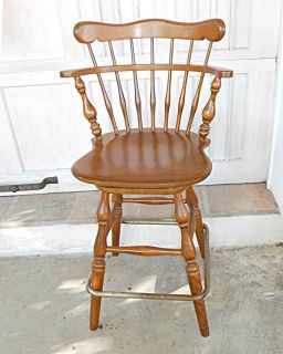 Bar Stool Vintage Ethan Allen Tall Kitchen Counter