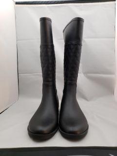 Womens Barbara quilted tall riding rain boots size 9..10..11