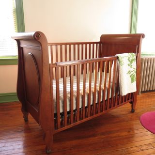 Solid Wood Crib with Drawer | Mattress Included