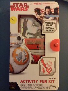 *Star Wars activity fun kit, marker, activity page, stormtrooper cards, crayons & stickers