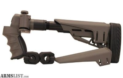 For Sale: Advanced Technology Intl Mossberg/Remington/Winchester, 12 Gauge TactLite Adj. Side Folding Stock with Scorpion Recoil System, Destroyer Gray B.1.40.1135