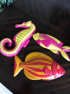Plastic fish decor