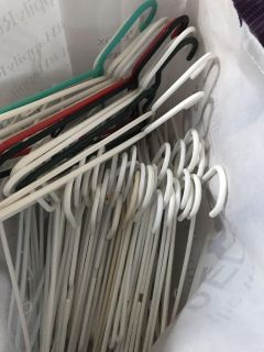 Full bag of hangers