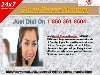 Gmail Phone Number for u.s. best 1-850-361-8504