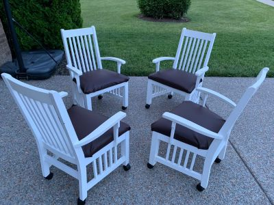 Rolling Dinning Chairs
