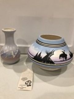 Signed Native American Pottery