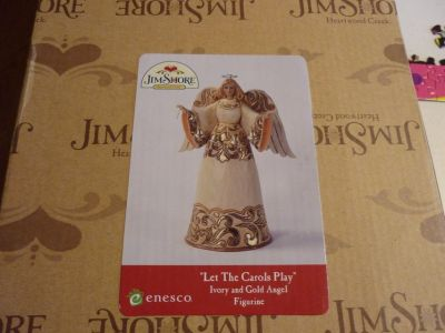 BRAND NEW JIM SHORE IVORY & GOLD ANGEL FIGURINE