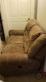 Brown Double Reclining Love Seat