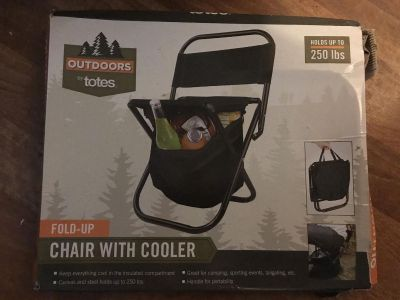 New! Portable, fold up cooler chair
