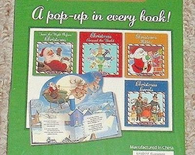 NEW 4 Christmas Pop Up Stories Set Twas Night Around The World Carols Kitten Lot