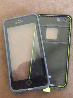 LIKE NEW!! LIFEPROOF Blue/Lime Green iPhone 6:6S cell phone case