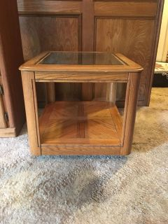 Side table, glass top