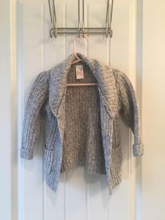 Cat and Jack 12 month gray cardigan sweater