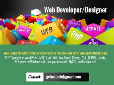 Wordpress,PHP,Magento Developer / Web Designer (US Developer