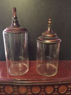 APOTHECARY CONTAINERS WOODEN LIDS