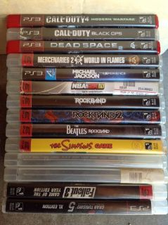 PS3 games, consoles, controllers