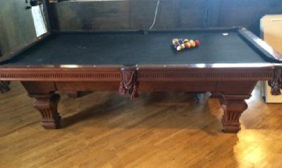 Pool Table & 5 Pool Cues (originally $3500)