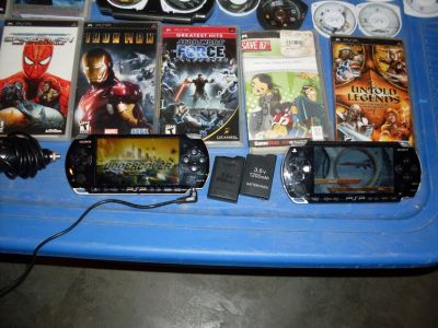 psp x 2 and games