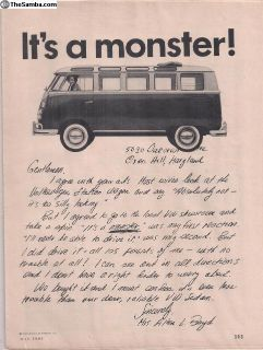 1964 1 Page Bus Magazine Print Ad #114