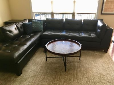 ARHAUS 2-piece brown leather sectional