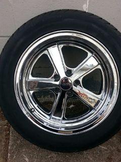 17 in. Chrome Rims & Tires