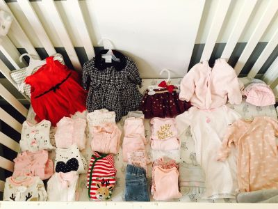 Baby Girl Clothes, Newborn and 0-3 months