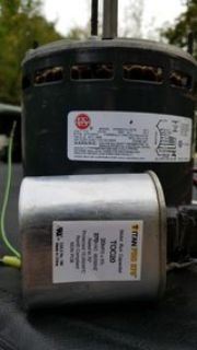 Furnace motor with capacitor