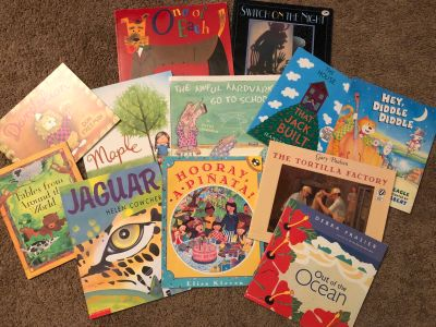 Lot of 12 Picture Books, really good used condition paperbacks, $5. Porch pick up only.