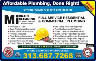 Water Line Repairs Plumbers on Time 48390 Emergency Plumber