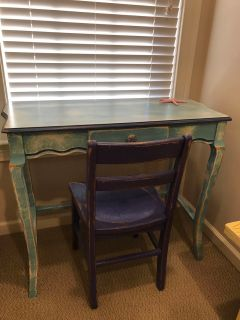 Antique wash desk and chair