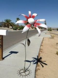 custom welded flowers art for your lawn and garden