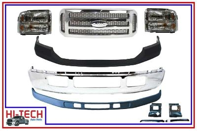 Find NEW 05 06 07 FORD F250 F350 SUPER DUTY CHROME FRONT BUMPER COMBO 5C3Z 17757 BA motorcycle in Buda, Texas, US, for US $655.00