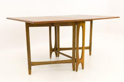 Teak Drop Side Leaf Expanding Dining Table