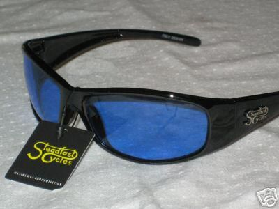Buy Steadfast Cycles sun glasses night riding blue safety day use eye wear motorcycle in Canyon Country, California, US, for US $12.00