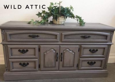 Hand Painted Farmhouse Style Dresser / TV Console