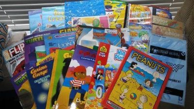 Coloring Books, Crayons, Markers, and Puzzles