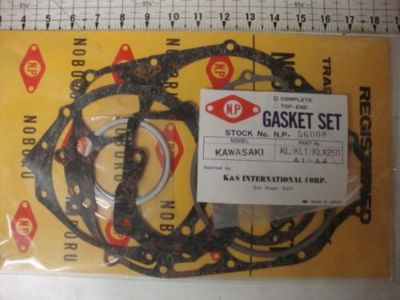 Sell KAWASAKI KL250 KLX250 KLT250 GASKETS KIT GASKET SET NOS VINTAGE KX KLX KLT 250 motorcycle in Shelbyville, Illinois, US, for US $54.99